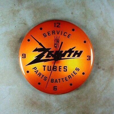 "Vintage Style Advertising Clock Fridge Magnet 2 1/4"" Zenith Tubes Service Parts"