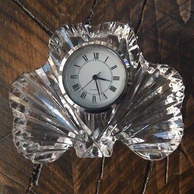 Tipperary Irish Crystal Clover Clock Irish Crystal Clock