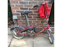 DAHON Folding Bicycle - Red - with Carrying Case