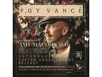 Foy Vance - Amy MacDonald x 2 tickets