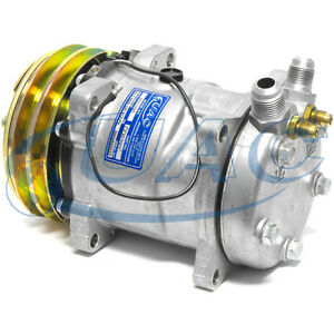 NEW-8390-SANDEN-STYLE-COMPRESSOR-W-CLUTCH-R12-134-SD508-FLARE-FITTINGS