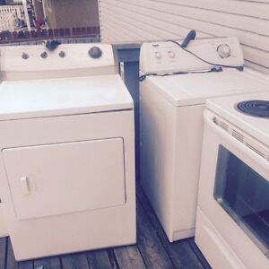 STOVE FRIDGE WASHER AND DRYER ALL FOR SALE NOT SOLD YET