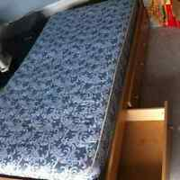 Mates Bed with 3 Built-in Drawers & Mattress