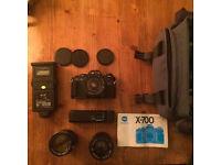 Minolta x-700 Film Camera Set, three lenses and bag