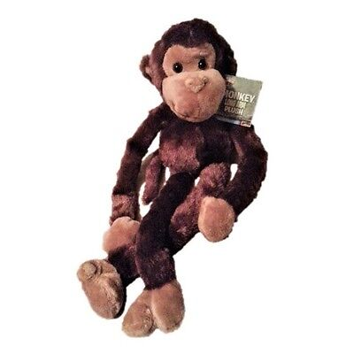 Adventure Planet Stuffed Monkey Plush Toy with One Large Hanging Velcro Hand New