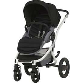 Britax Affinity 2 Pushchair Base In White/Cosmos Black RRP £460.00