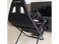 Logitech G29 Steering wheel and pedals with Playseat Challenge