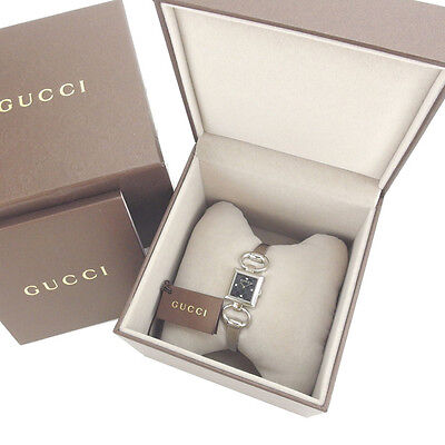 GUCCI Watches Square Face GGpattern Ladies Authentic Used Y3183