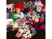 JOB LOT BRAND NEW TAGGED HAIR ACCESSORIES OVER 250 PIECES.