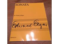 Elgar Sonata, opus 82, for violin and piano, Novello press, NEW