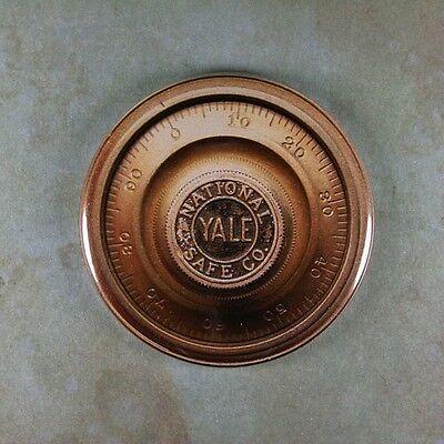 "Vintage Safe Dial Lock Fridge Magnet 2 1/4""  National Yale Steampunk Dieselpunk, used for sale  North Hollywood"