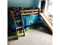 Thuka Mid Sleeper / bed with slide