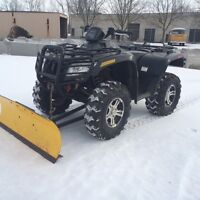 MINT 2009 ARCTIC CAT FOR SALE - LOW KMS, PLOW INCLUDED
