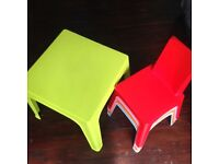 EXCELLENT CHILDREN'S TABLE AND CHAIRS SET – GREAT QUALITY AND VERY STRONG