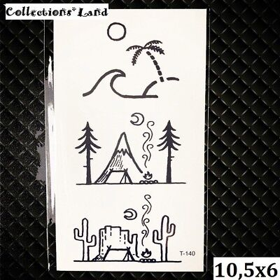 Tatouages Temporaire / Temporary Tattoo  Camping (T-140) (Camping Tattoos)