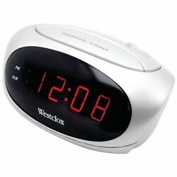 Westclox 70044b 6 LED (White) Alarm Clock with Adjustable Alarm Volume