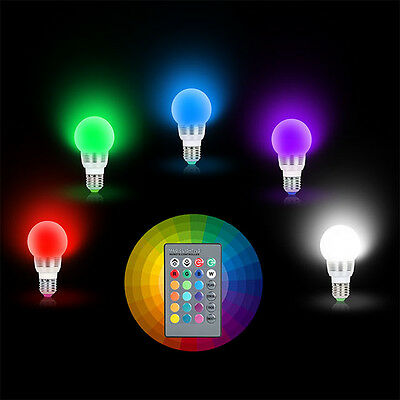 3W E27 RGB LED Party Magic Bulb Light Halloween Christmas Decoration With Remote (Halloween Night Light Bulbs)