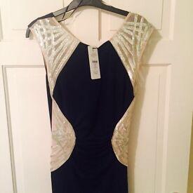 Lipsy Michelle Keegan blue maxi dress BNWT size 12