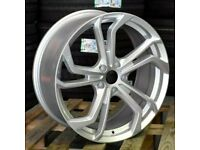 "*TCR* x4 18"" Golf Reifnitz Style Alloys Vw Golf GTI Caddy Audi Seat Silver"