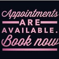 Hair appointments available!