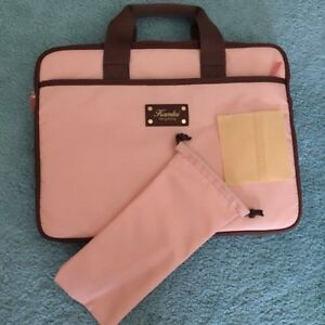Pink laptop bag