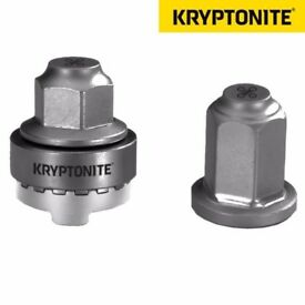 [New] Kryptonite M9 Security WheelNutz Bike Bicycle Wheel Nuts for Solid Axle 9mm