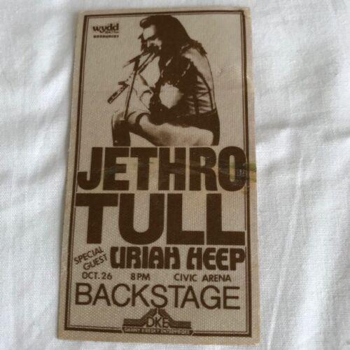 JETHRO TULL - Uriah Heep - backstage pass - Pittsburgh Civic Arena 10/26/78