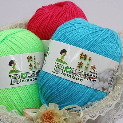 Worsted Fiber - Chic 87 Color Hybrid Fibroin Natural Worsted Knitting wool Baby Blend Fiber Yarn