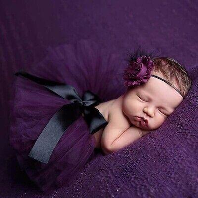 Süße Baby Set Ballet Haarband Blume Feder Rock - Schwarz Blumen Mädchen Kostüm