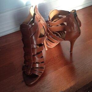 Size 8 Nine West leather heels