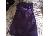 Purple Strapless Satin dress (comes with straps too) New with tags- £30 O.N.O