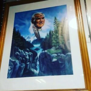 Chief Dan George Print with frame 126 of 960 $250