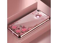 BRAND NEW: Silicone Diamond Clear Cover Soft TPU Flower Flora Phone Case For Xiaomi Redmi
