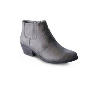 DENVER HAYES TAUPE ANKLE BOOTIES-NEW!