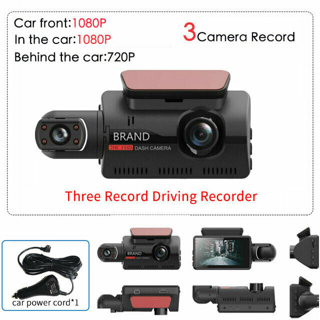 Dual Lens Car DVR Dash Cam Video Recorder G-Sensor 1080P Front and Rear Camera