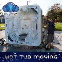 Need your hot tub moved? - Splashtek hot tub movers and disposal