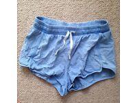 Topshop denim stretchy shorts - size 12