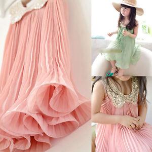 Cute-Baby-Girls-Party-Dress-Princess-Chiffon-Tutu-Pink-Kids-Age-3-8Y-Sundress