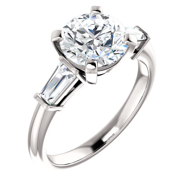 GIA 1 carat Round Diamond Engagement Wedding Solitaire 14k White Gold Ring H SI2
