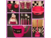 Pink Kitchenware Items - Bundle of Items (9)