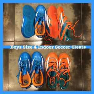 Youth Boys Size 4 Indoor Soccer Cleats