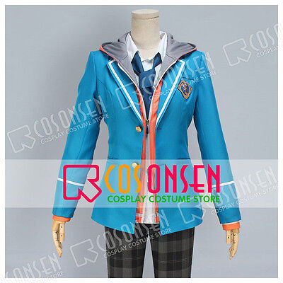 Cosonsen Ensemble Stars Cosplay Costume Male Blue Uniform new Full (Male Cartoons Characters)