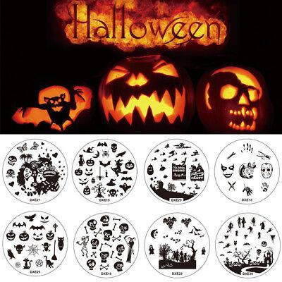 Konad Stamping Halloween (DXE PIASTRA per NAIL ART MANICURE di HALLOWEEN SMALTO GEL stamping  KONAD)