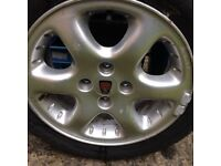 """Rover 15"""" 'Turbo' alloy wheels & tyres. (Cabriolet, 216, 220 Coupe)"""
