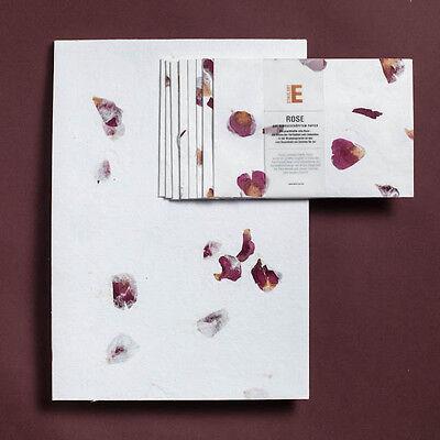 Briefpapier A4, handgeschöpft, Bütten, Blütenpapier, Rose, Klee, Kornblume...uvm ()