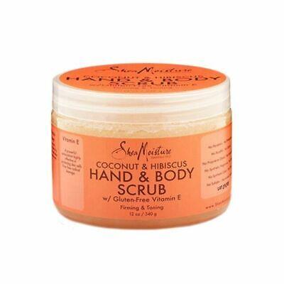 Shea Moisture Organic Coconut & Hibiscus hand & body scrub 340g