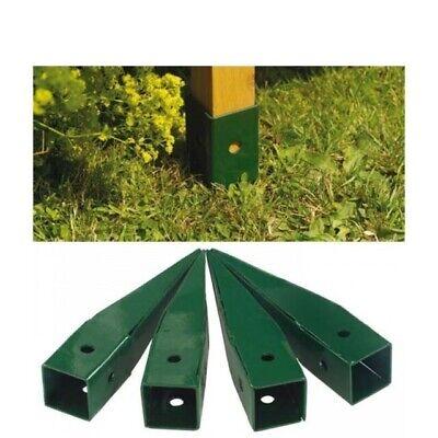 Gardman GARDEN ARCH GROUND SPIKES 4Pcs, Powder Coated Metal, GREEN  Gardman Garden Arch