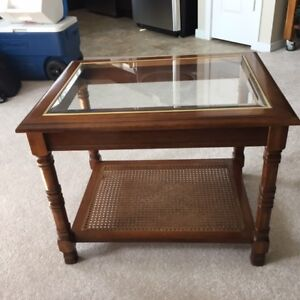 BEAUTIFUL SOLID WOOD END TABLES