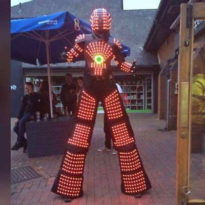 Led Robot Suit Costume Leds Party Show Glow Night Parties Laser