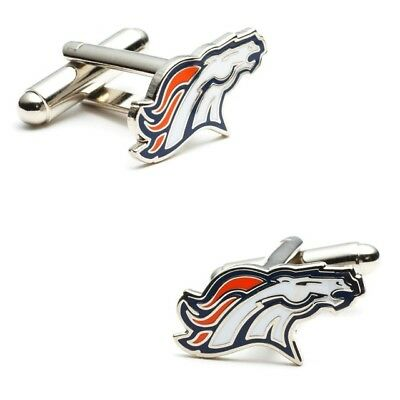 Denver Broncos style Cuff links Best Man Groomsmen Wedding Gift Grad Birthday